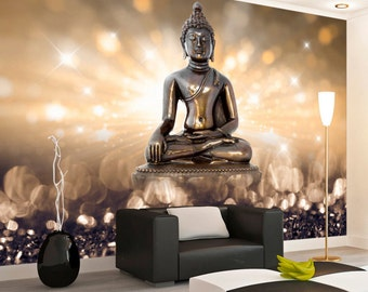 Photo Wallpaper Wall Murals Non Woven 3D Modern Art Buddha Wall Decals  Bedroom Decor Home Design Wall Art Decals 161