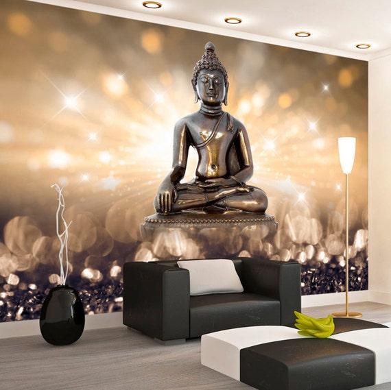 Foto-Tapete-Wand-Wandbilder Vlies 3D moderne Kunst Buddha Wall