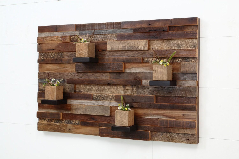 Wood wall decor using reclaimed wood
