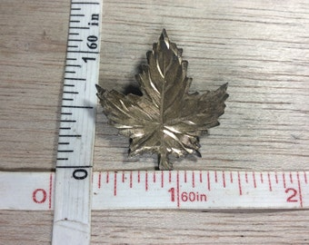 Vintage Ecco 925 Sterling Silver 3.2g Maple Leaf Pin Brooch Used