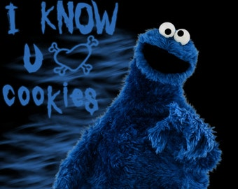 Cookie Monster # 13  8 x 10 - T Shirt Iron On Transfer -
