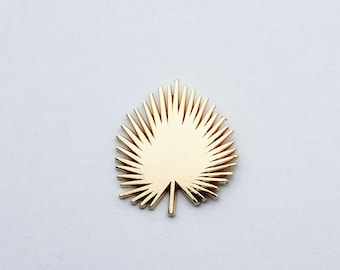 Gold Fan Palm | Lapel Pin