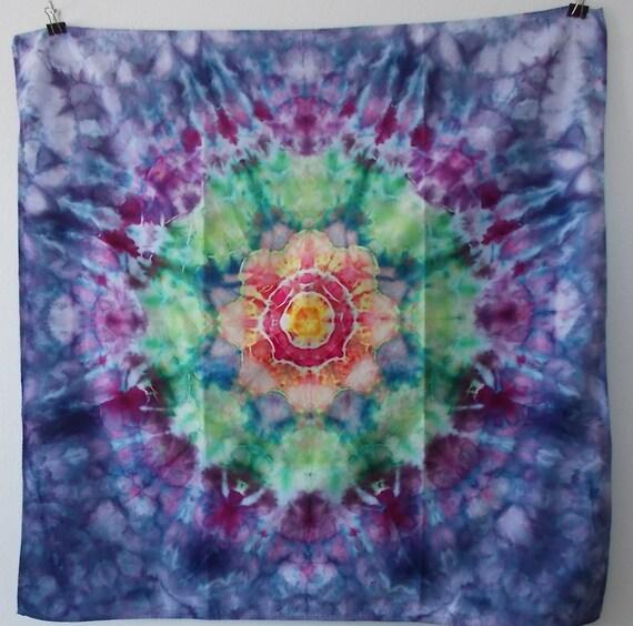 Cotton Bandana, tie dyed bandana, ice dyed bandana, pet bandana, square bandana, tie dyed handkerchief, handkerchief