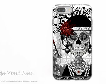Flapper Girl Sugar Skull iPhone 7 PLUS - 8 PLUS Tough Case - Dual Layer Protection - 1920s Day of the Dead - Mrs Gloria Vanderbone
