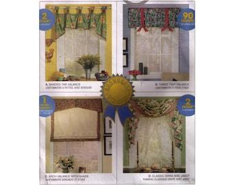 Uncut McCall's 3639, sewing pattern, valence pattern, window valences, home decor