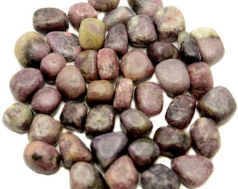 Lepidolite - Tumbled - 1 Pound - 3/4 to 1 inch - Bulk Lot lb