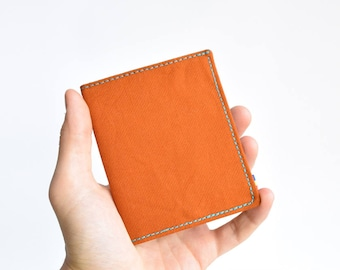 Siena brown cotton wallet. Vegan wallet. Slim wallet. Thin wallet. Minimalist. Upcycled wallet.