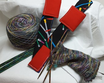Knitting Needles for this double point knitting needle holder for your work in progress