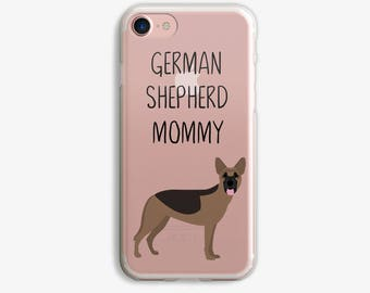German Shepherd iPhone 8 Case German Shepherd Mommy iPhone 7 Case Personalized German Shepherd iPhone X Case Dog iPhone Case Custom Text