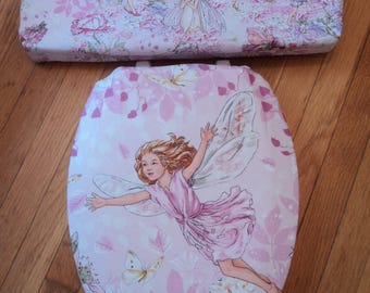 Flower Fairy Toilet Seat Cover Set