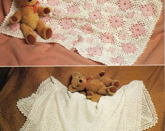 Knit and Crochet Baby Shawl Patterns, PDF, Instant Download, Vintage UK Pattern