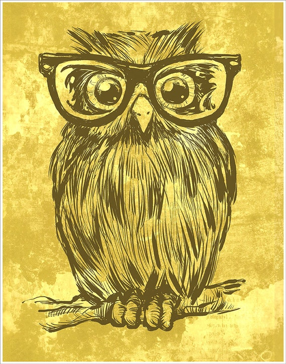 Owl with Glasses #1