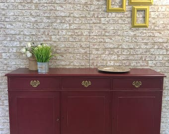 SOLD - Majestic Deep Crimson 5ft Dresser Sideboard Cridenza Base unit - SOLD