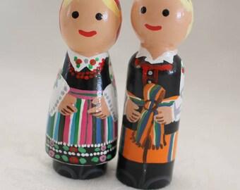 """Polish Peg Dolls - Set of Two - medium 2 3/4"""" size"""