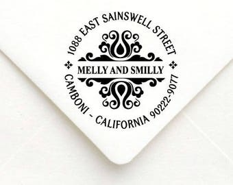 Personalized Self Inking Return Address Stamp - self inking address stamp - Custom Rubber Stamp A04