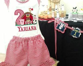 Farm birthday - farm birthday outfit - cowgirl shirt - farm shirt - farm birthday shirt - first birthday - second birthday - cowgirl