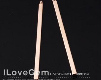 SALE / 20pcs / NP-1653 Rose Gold plated, 40mm, Stick, Pendant