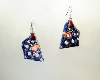 Paper earrings| Eco-friendly| recycled paper| jewelry| dangle & drop earrings| 3 colors