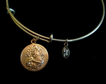 Astrological Sign Wire Bangle Bracelet