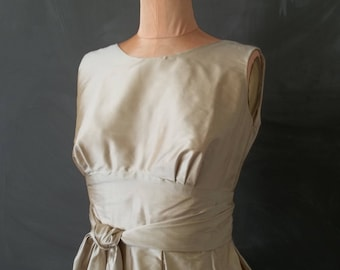 Sample SALE Wrapture Dress - Champagne Silk Wrap Dress