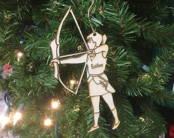 Archery 1 Personalized Christmas Ornament