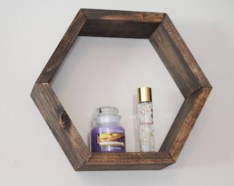 Honeycomb Shelf, Honeycomb Shelves, Hex Shelves, Hexagon Shelves, Geometric Shelf, Floating Hex Shelf, Floating Honeycomb Shelf (Single)