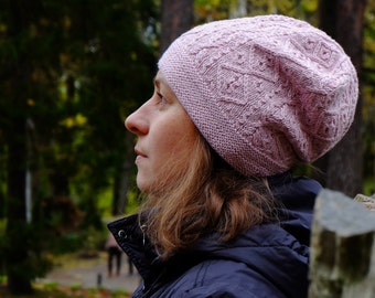 PDF knitting pattern, Knit hat pattern, Reet hat pattern, Textured hat pattern, Cable hat pattern