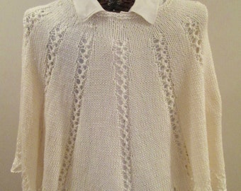 Pdf ELEGANCE IN IVORY Knitted Poncho