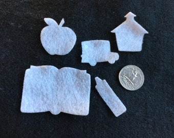 School Mini Felt Shapes -DIY Kits for Independent Consultants-Parties-Favors-School Theme Decorations-Planner Embellishments-Teacher Gifts