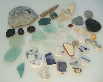 Beach in a box, Scottish beach finds in a box, sea glass shells sea pottery, Beach combing , Scottish beach finds, beach lover starter box