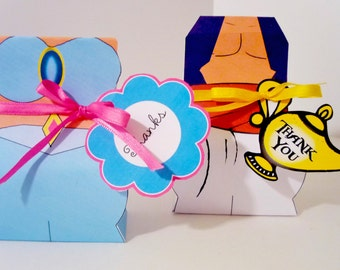 Princess Jasmine and Aladdin Instant Download Printable Party Treat Boxes