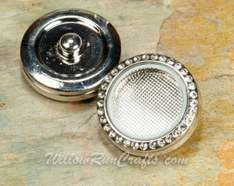 1 Snap 25mm Floating Locket , Memory Locket, Fits 18mm Snap Jewelry