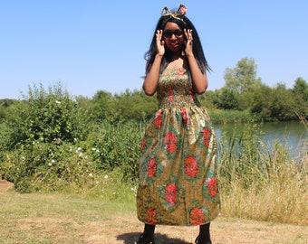 African Dress African Print Dress Ankara Dress African Clothing For Women Festival Clothing Boho Dress Ethnic Dress Ethical Clothing Kente