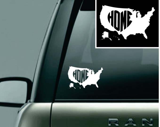 United States of America Love Your Country Car Decal