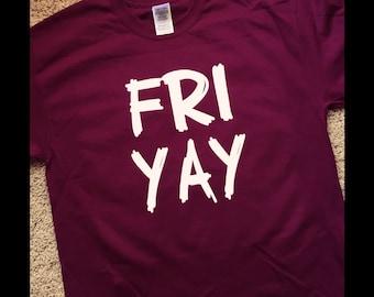 FRIYAY Short Sleeve Tshirt with Smooth or Glitter Vinyl