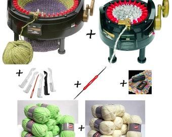 Savingsset: ADDI Express kingsize plus ADDI Express Professional plus accessories plus 1000 g wool
