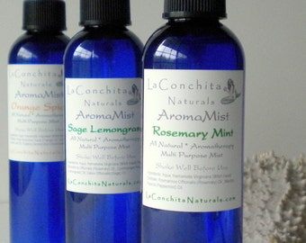 Lemongrass Sage Room Spray - Natural Air Freshener - AromaMist with Pure Essential Oils - On Sale