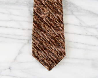 CLEARANCE. Vintage Autumn Stitched Striped Tie