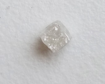 1 Pc 3.6mm White Diamond Perfect Cube, Natural Rough Diamond Cube, Raw Diamond, Uncut Diamond, White Diamond Jewelry - PUSPD53