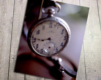 """Great-Grandpa's Pocket Watch Fine Art Postcard, History, Antique, Vintage, Family, Remembrance, Postcrossing - 4.125"""" by 5.75"""""""