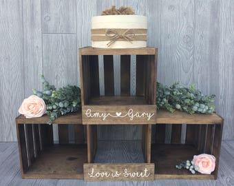 Rustic Wedding Cupcake Stand, Crate Cupcake Stand,  Wood Cupcake Stand