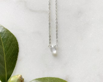 Fertility Moonstone Necklace, Pregnancy Jewelry, Infertility Gift, Fertility Stone, Hope, Fertility Necklace, Fertility Jewelry, Minimalist