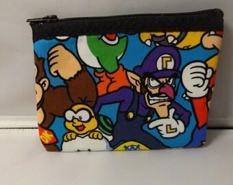 Nintendo Fabric Coin Purse- Handmade