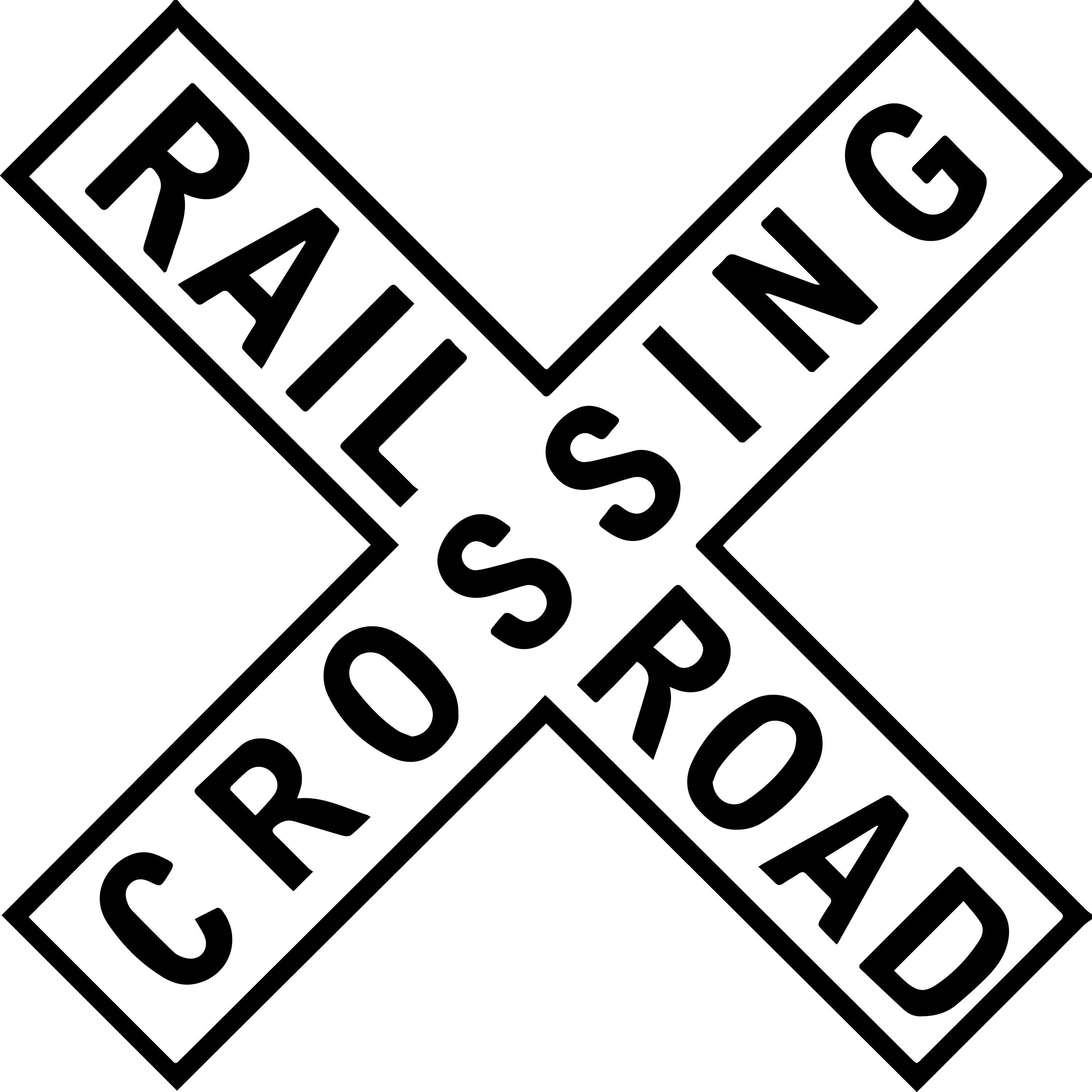 Critical image throughout railroad crossing sign printable