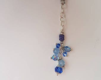 "Jewelry bag or planner ""cluster"" blue"