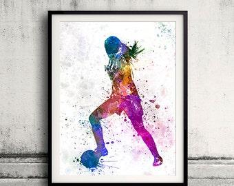Girl soccer football player playing 02 - SKU 0708