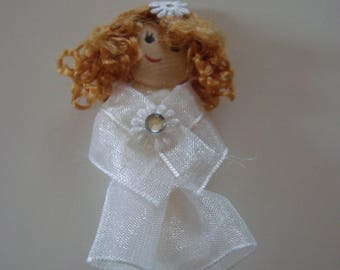 Kawaii craft bridal or communion - long hair - white dress - rhinestones