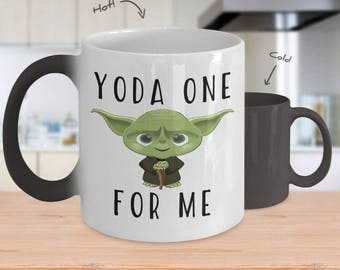 Color changing mug, yoda mug, star wars mug, yoda coffee mug, funny yoda mug, yoda one for me, yoda best mug, yoda, yoda one,