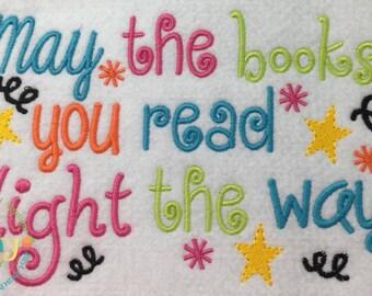 Books Machine Embroidery Design