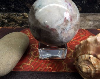 Tourmaline Sphere - Lovely Color - Crystal Ball - Crystal Sphere - Rubellite Tourmaline  - Heart Chakra